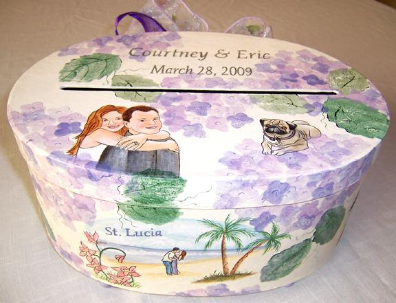 Wedding Gift Card Box Mache wedding gift card box given to the happy