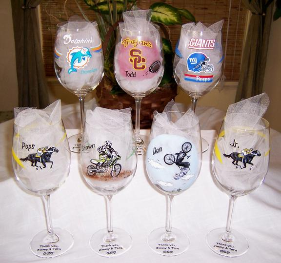 How Many Wine Glasses For Wedding Gift : Wine GlassesEach of these Groomsmen wine glass gifts are ...